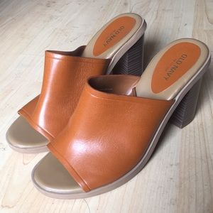 Like New Tan Old Navy Mules